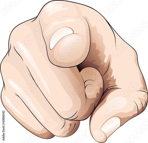 Fotografía  Mano e dito indica direzione-Hand and Finger Pointing Direction