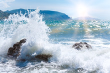 Sea Surf Wave And Sun
