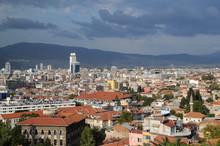 City Of Izmir Before Storm