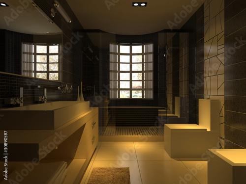 Montage in der Fensternische Barcelona rendering toilet