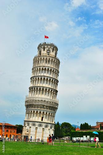 Valokuvatapetti Leaning tower of Pisa, Italy
