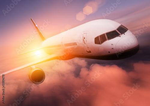 Plakaty drukowane na zamówienie  podroz-samolotem-w-strone-slonca