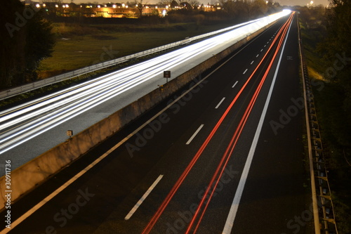 Photo Stands Motor sports traffico notturno