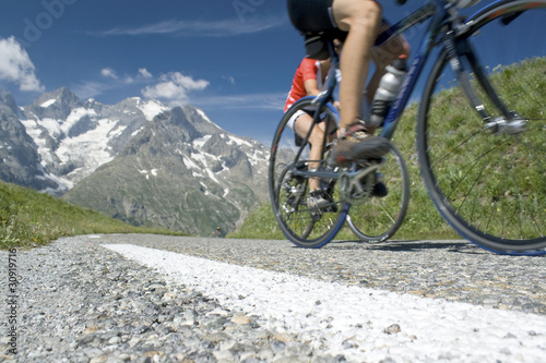 Spoed Foto op Canvas Fietsen Cycling in the french Alps, tour de