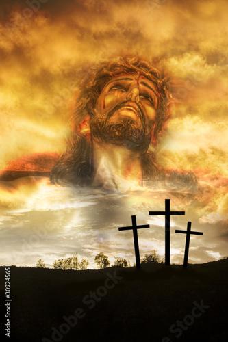 crucifixion montage 1 Fototapeta