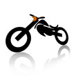 Motorcycle over white background