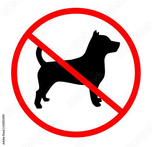 Tela  Prohibido perro