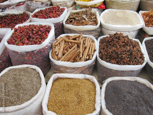 Staande foto India spices