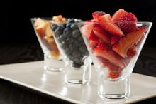 Strawberries, Blueberries And Nectarines
