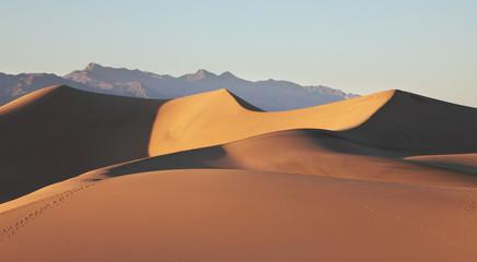 Fototapeta na wymiar Sand dunes at sunrise