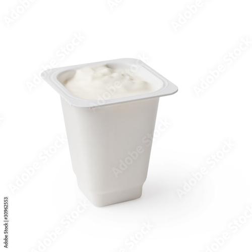 Fototapeta White yogurt obraz