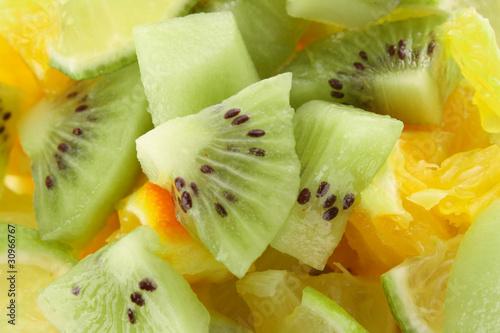 Foto op Aluminium Vruchten Sliced fruits