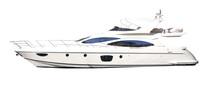 White Isolated Yacht