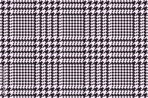 Photo Houndstooth or pied-de-poule classic vector pattern