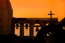 Bells And Cross At Mission San Juan Capistrano