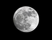 Waxing Gibbous Super Moon, Clo...