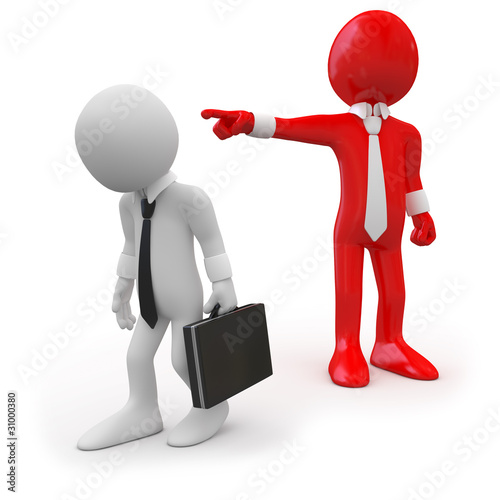 Fotografía  Boss dismissing an employee