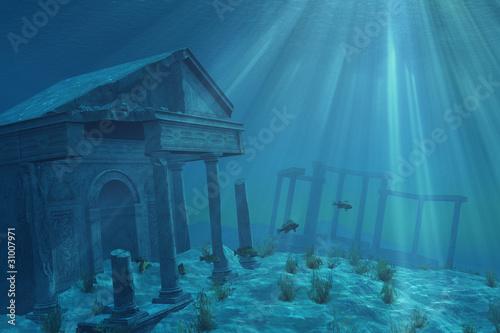 Fotografie, Obraz  Undersea Ruins