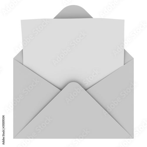 Fotografie, Obraz  Envelope with blank letter
