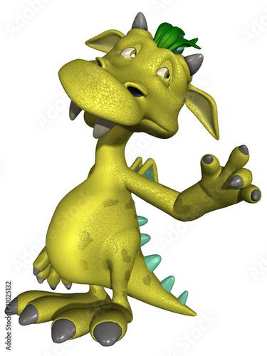 Foto auf AluDibond Drachen Cute Toon Monster