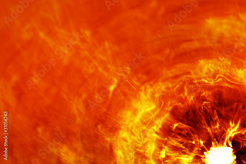 fiery explosion Canvas Print