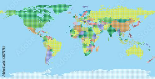 Naklejka World map
