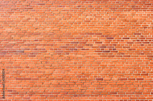 Papiers peints Wall texture for background with small red bricks