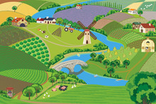 Panoramic View Of A Village