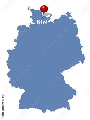 Kiel Auf Der Deutschlandkarte Buy This Stock Vector And Explore