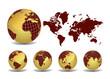 Glossy world map set