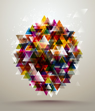 Abstract Triangle Banner.
