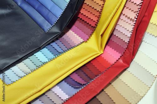 Fotobehang Stof Textil Stoffmuster bunt