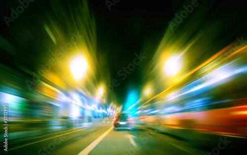 Fotografia, Obraz  imagen abstracta de ciudad y trafico