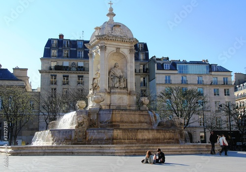 Fontaine Saint-Sulpice Wallpaper Mural