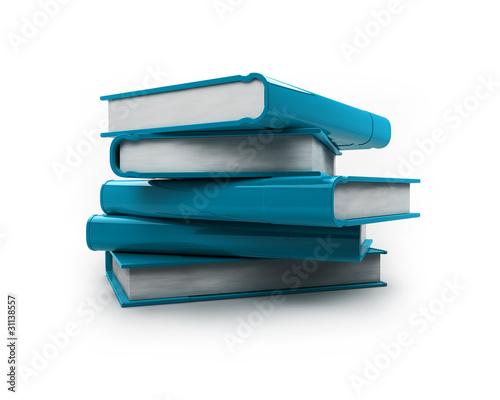 Pile De Livres Bleu Buy This Stock Illustration And