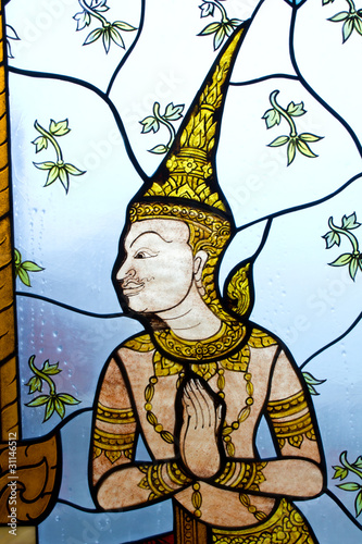 sztuka-tajlandzki-obraz-na-szklach-tajlandia