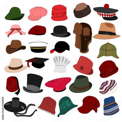 Obraz Lots of Hats Set 04 - fototapety do salonu