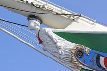 Galionsfigur Eines Segelschiffes