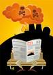 kernenergie atomstrom kernkraftwerk cartoon