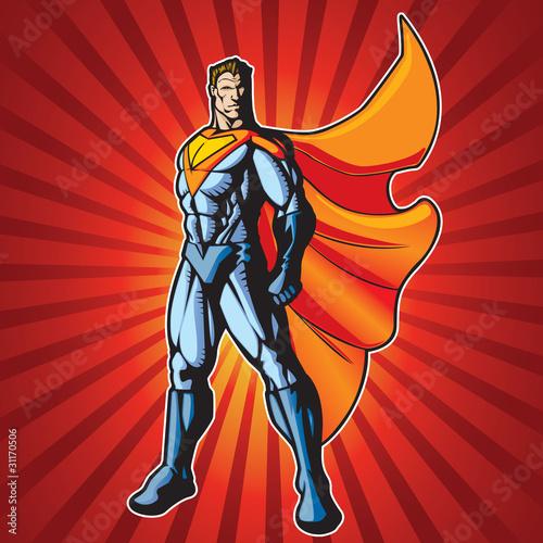 Poster Superheroes Super human man 3