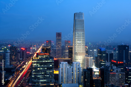 Foto auf AluDibond Beijing Central Business District of Beijing, China