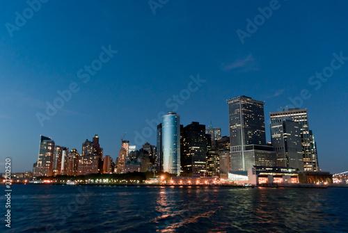 Foto op Aluminium Tokyo Manhattan Skyline at Night
