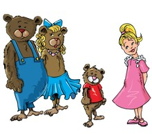 Cartoon Of Goldilockes And The...