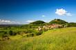 Landschaft Seitenroda mit Leuchtenburg