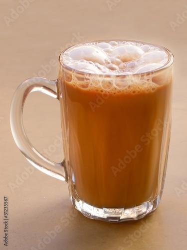 Photo  asian pulled milk tea