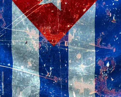 Cuban flag Wallpaper Mural