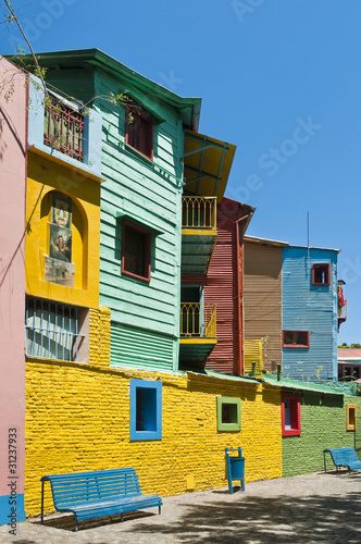 Keuken foto achterwand Buenos Aires Colorful houses at Caminito street in La Boca, Buenos Aires