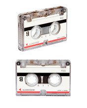 1980s Blank Micro Cassette Isolated On White Background