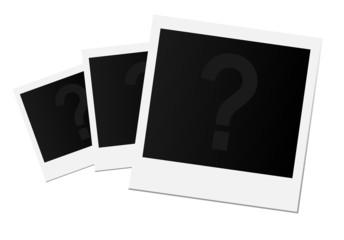 Polaroids Fragezeichen