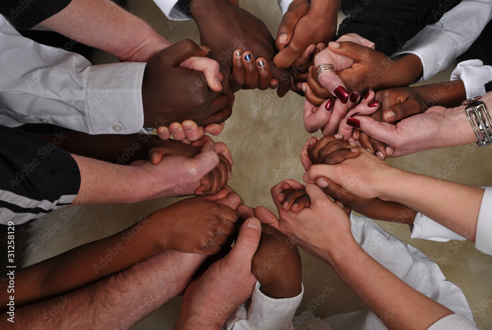 Fototapety, obrazy: Black and White Hands